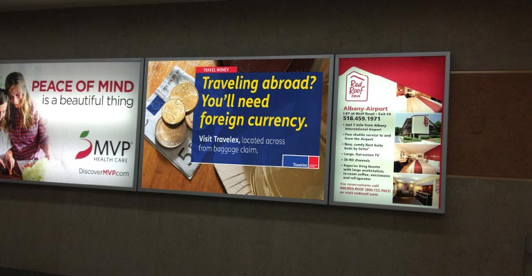 Travelex Currency Exchange Airport Signage